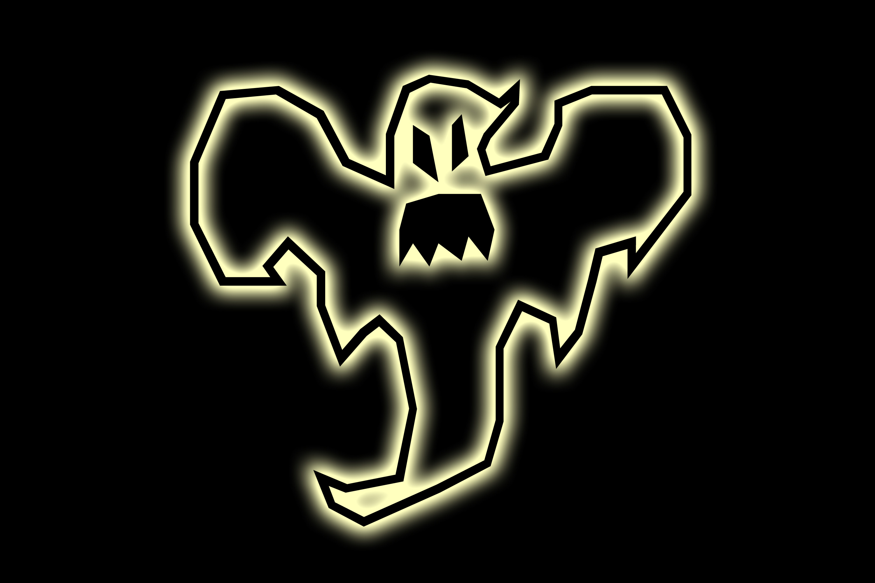 ghost clipart with teeth and glowing edges