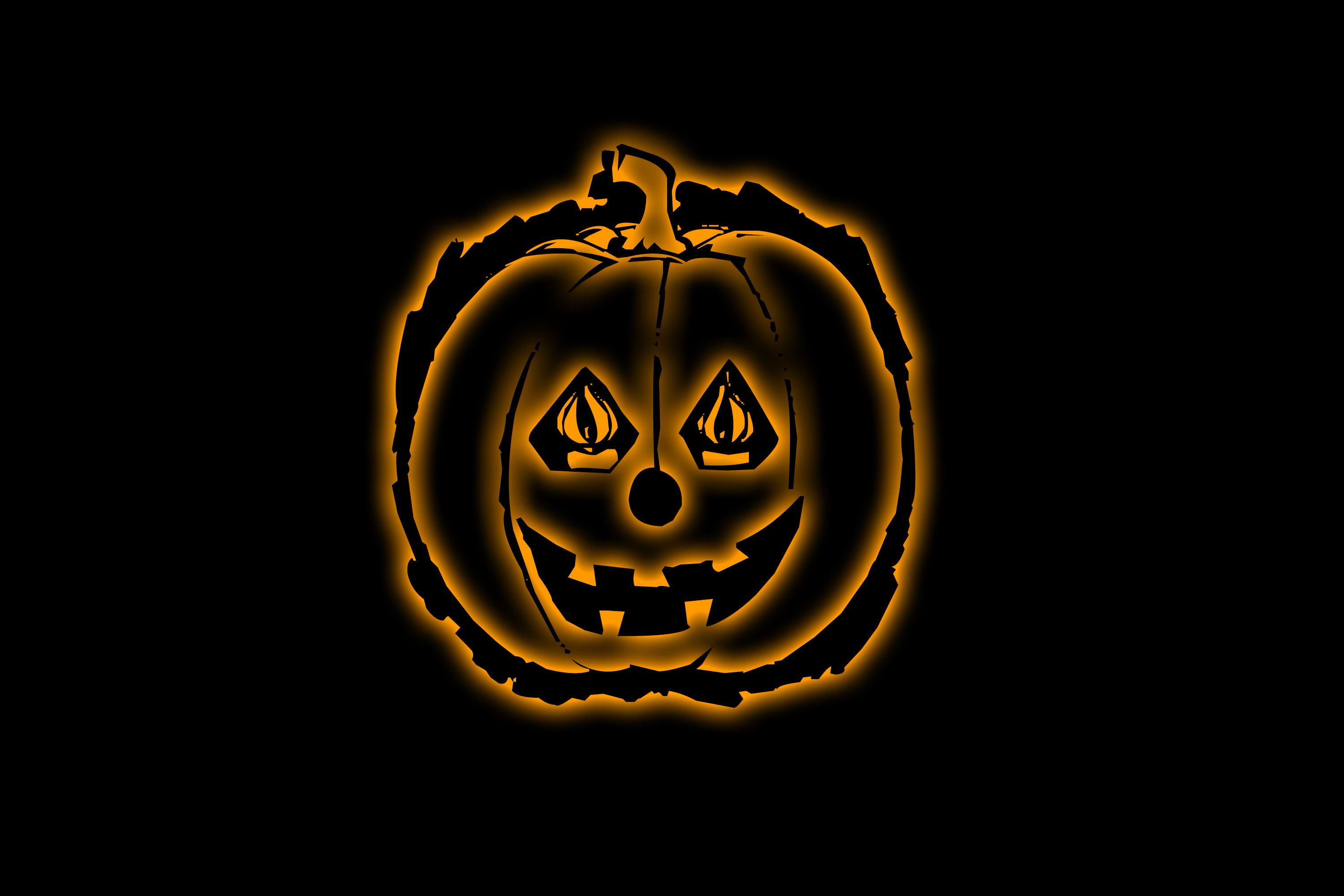 glowing orange pumpkin lantern clipart
