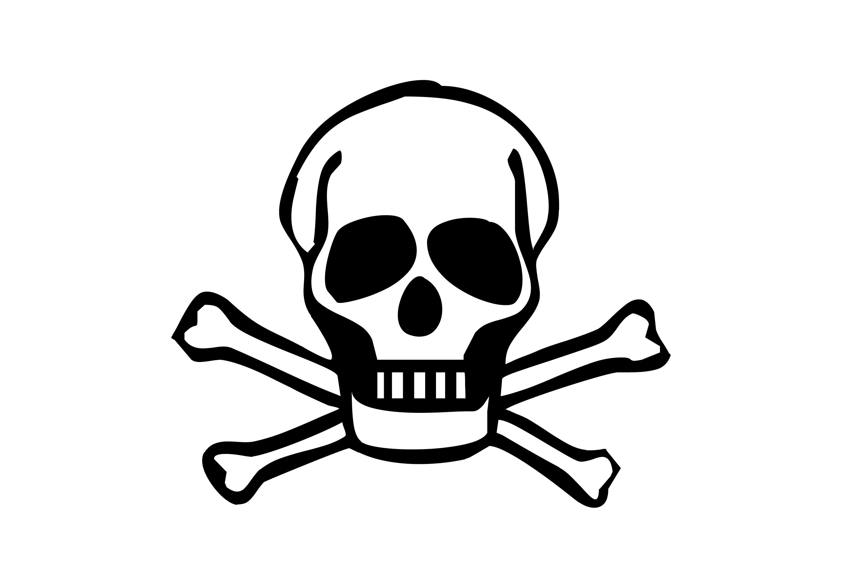 image of skull and bones creepyhalloweenimages rh creepyhalloweenimages com clipart skull and crossbones pirate skull and crossbones clip art images