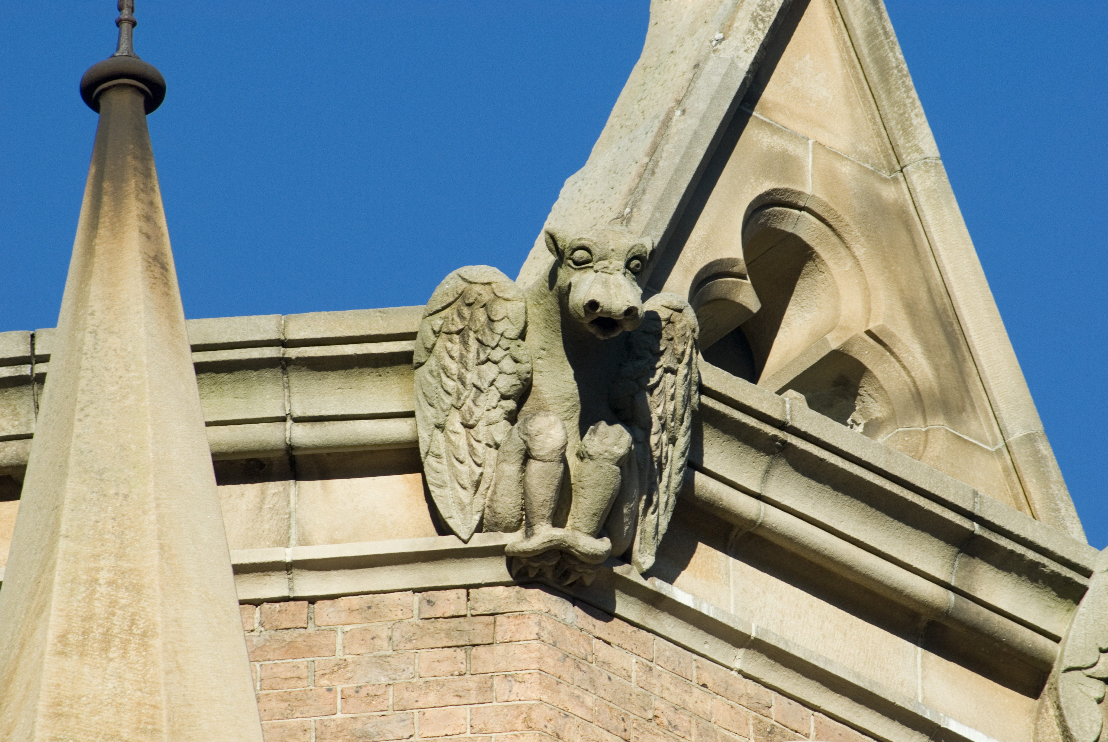 church rooftop chimera or grotesque in parramatta