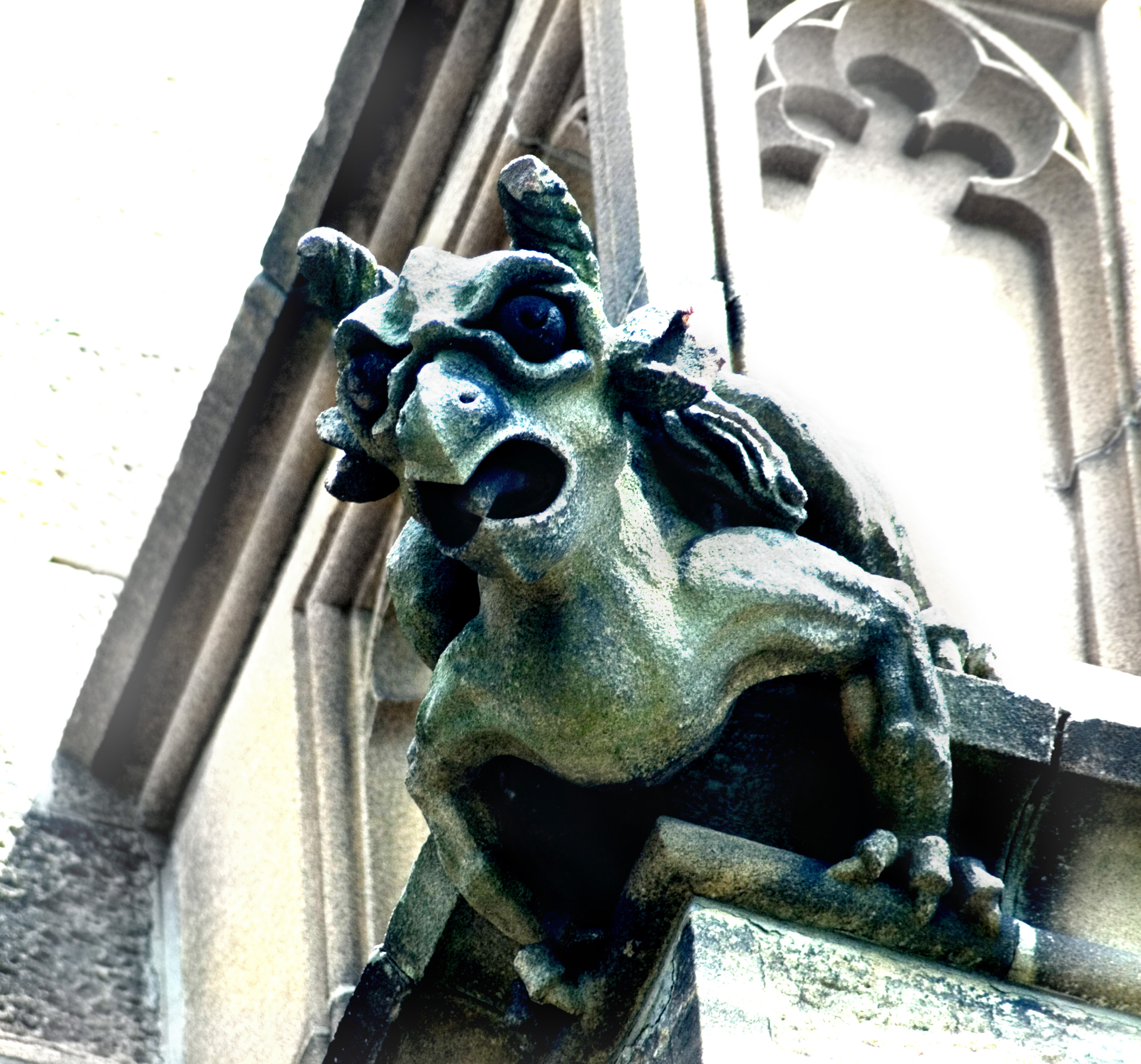 grotesque stone devil incarnate decoration