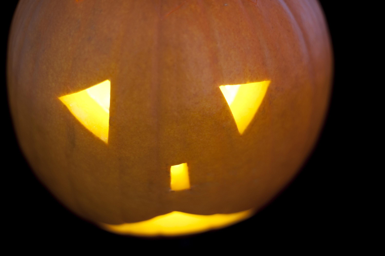 Sad Pumpkin Face Halloween pumpkin face