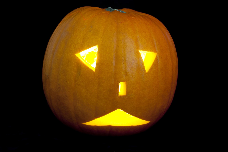 Uncategorized Original Jack O Lantern image of miserable halloween creepyhalloweenimages a unhappy looking jack o lantern with sad triangular eyes