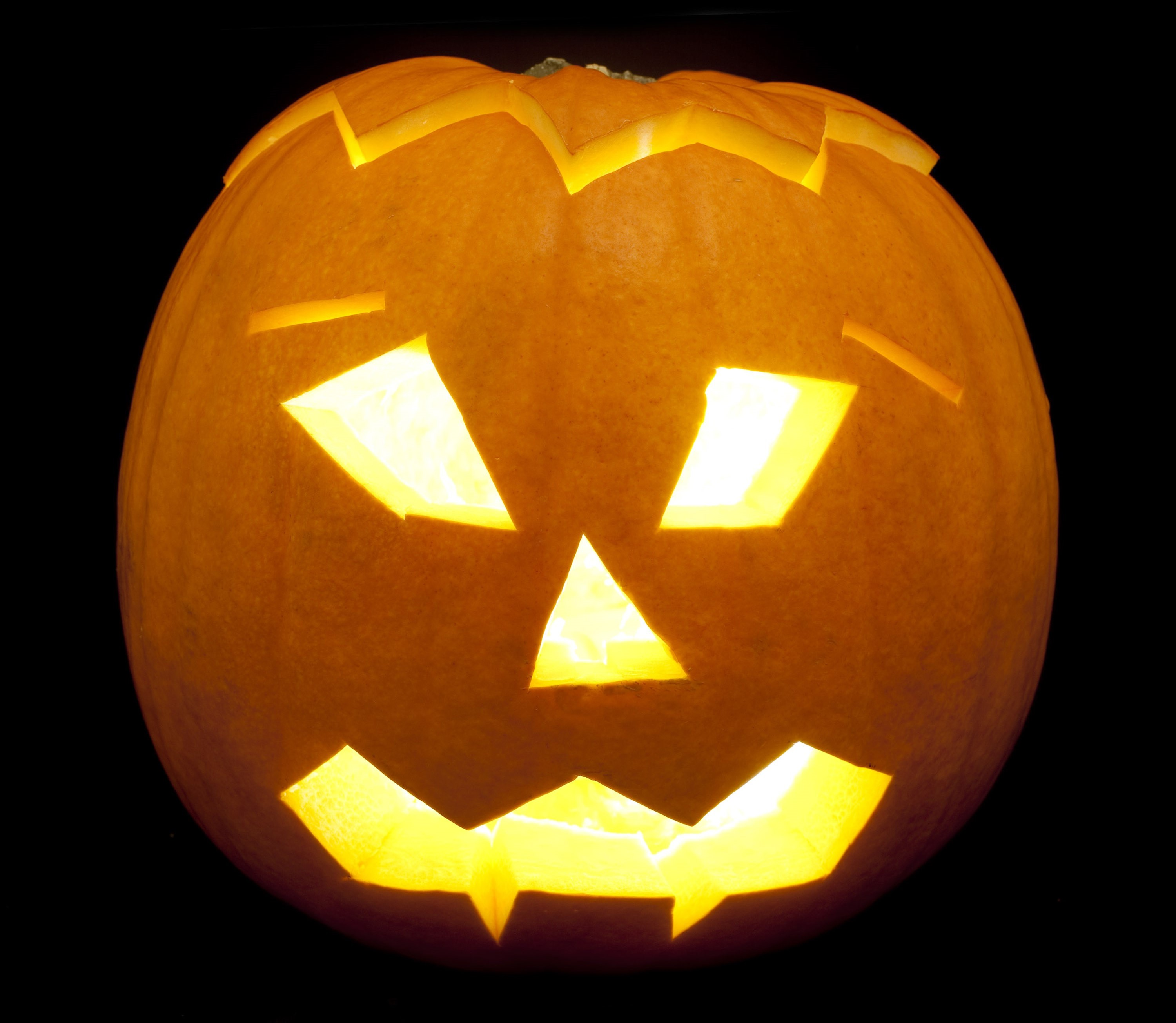 Uncategorized Pumpkin Scary image of scary pumpkin lantern creepyhalloweenimages a carved decorative halloween with light inside