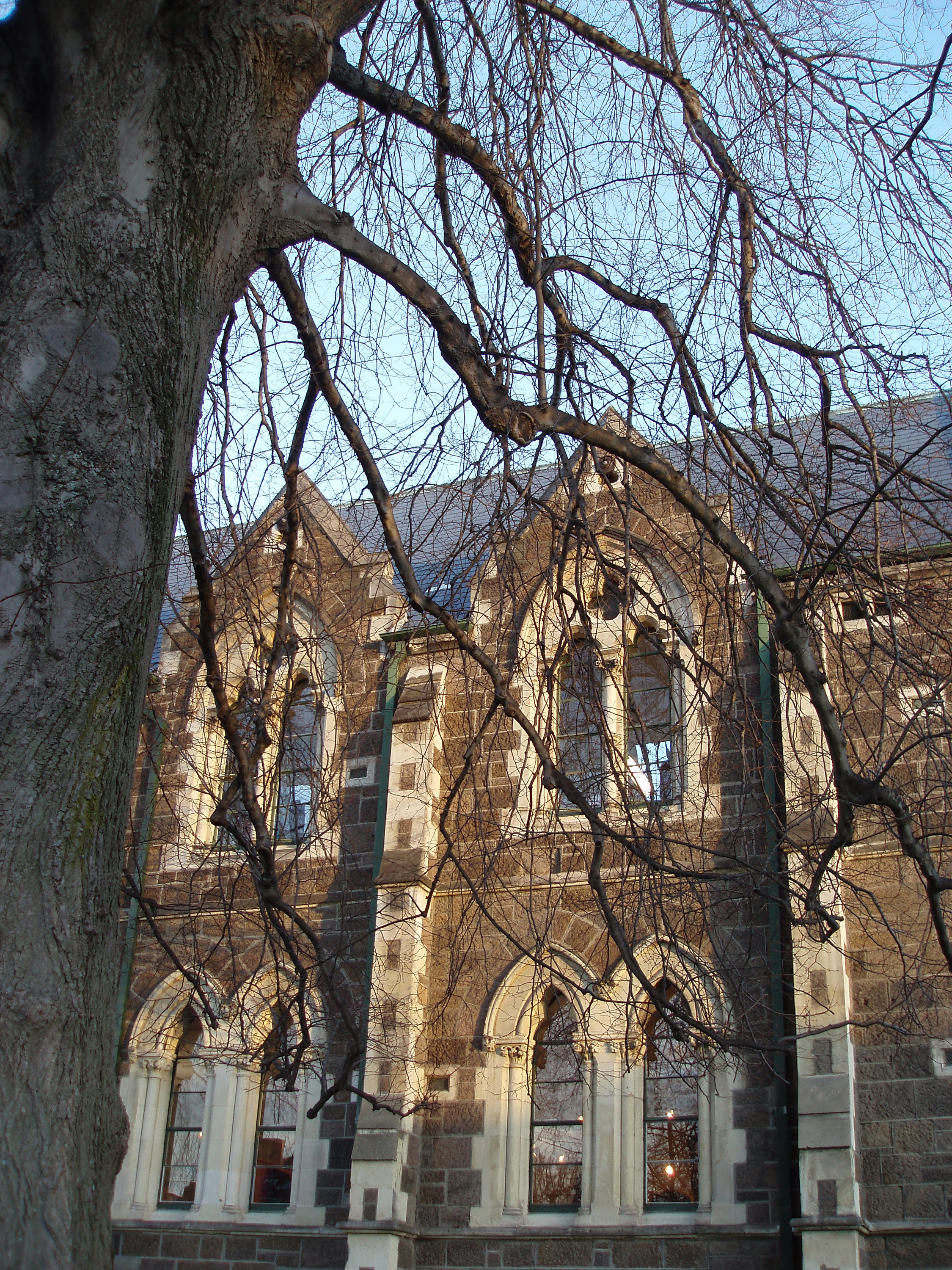 former university of canterbury buildings, christchurch stone windows old granite