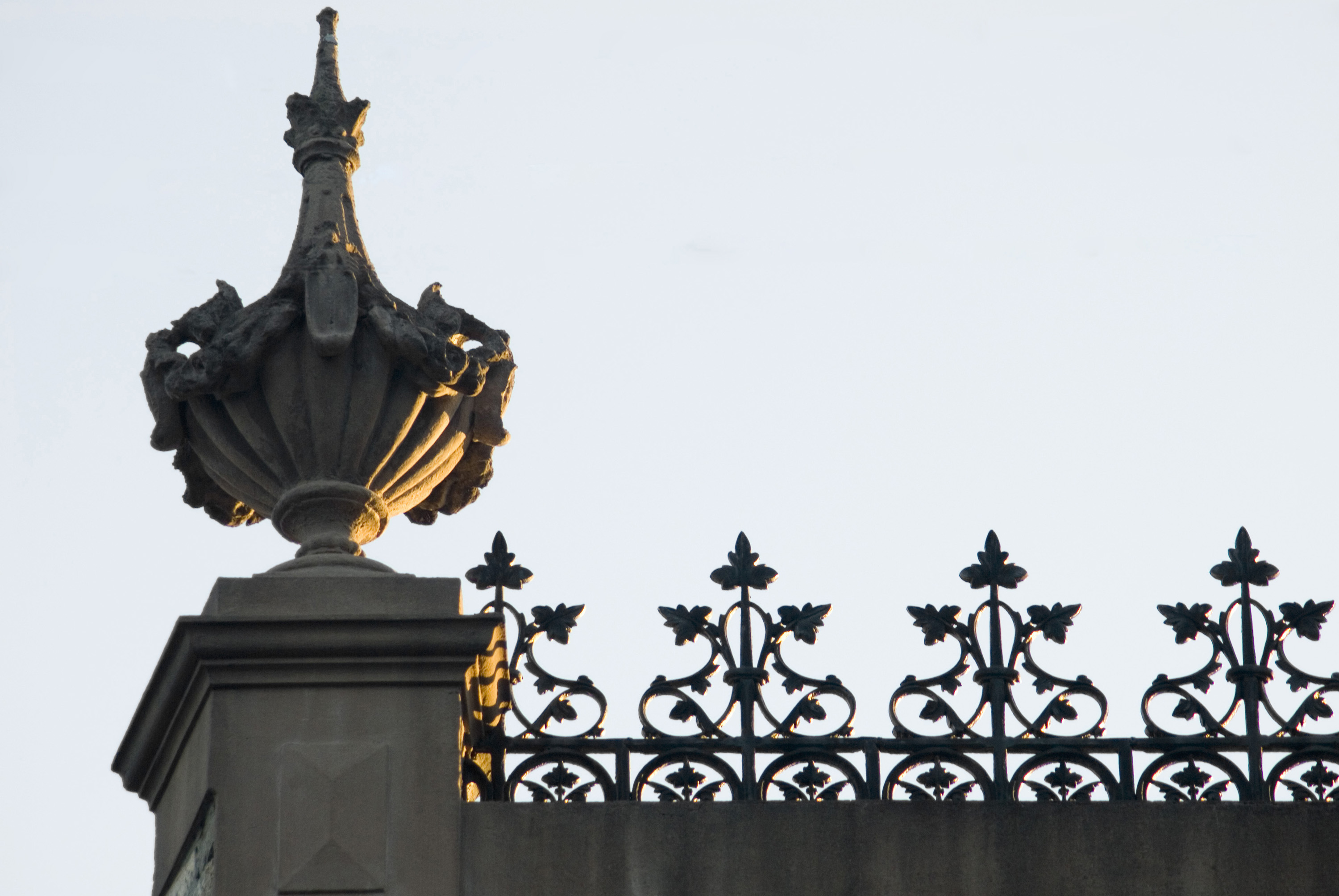 roof decoration finial, and cast iron ornamentation