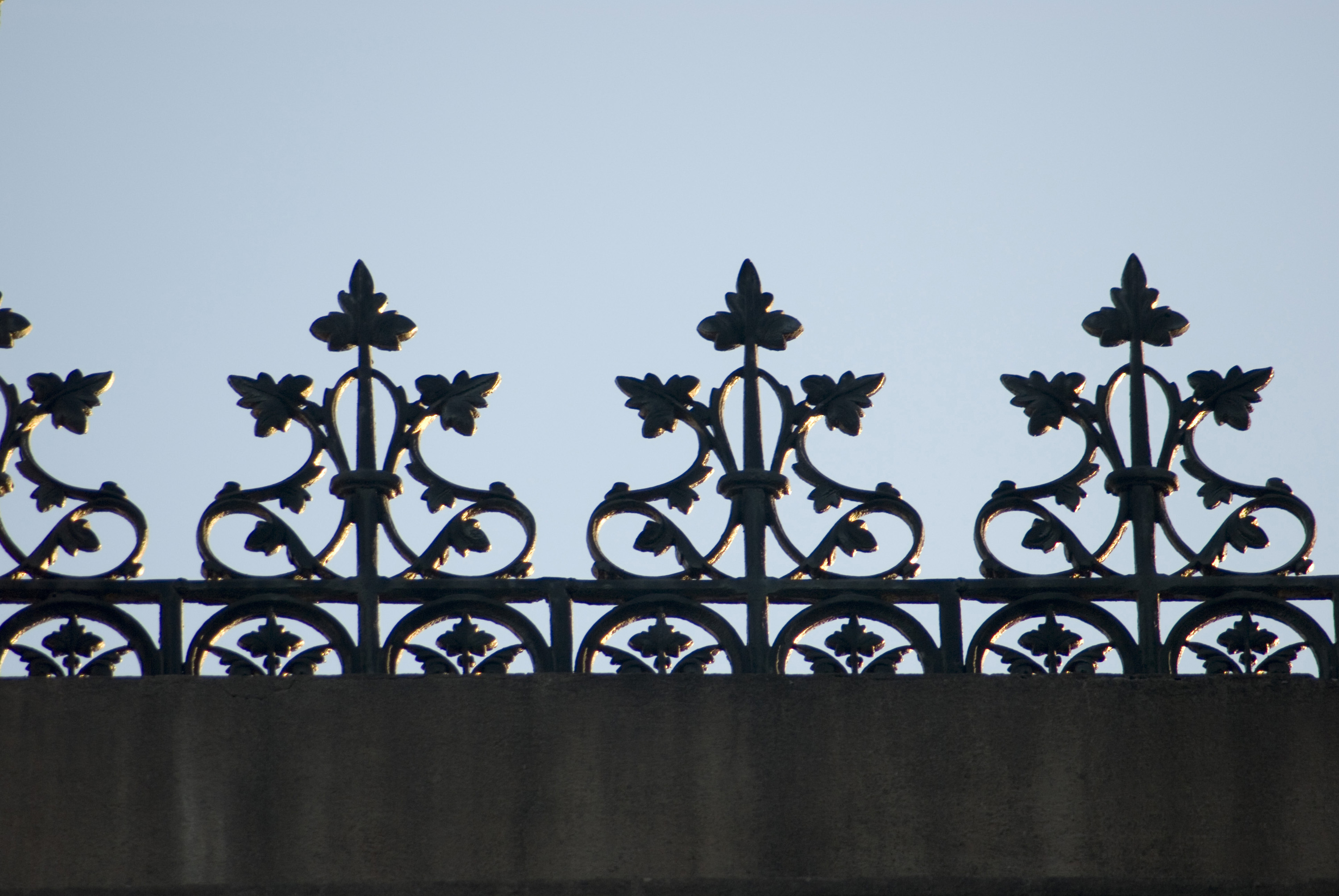 roof decoration, a freze of ornate cast iron