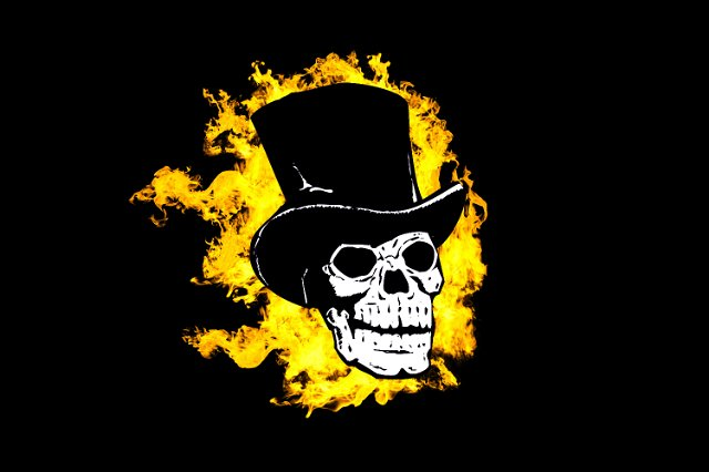 Image Of Flaming Skull In A Top Hat Creepyhalloweenimages
